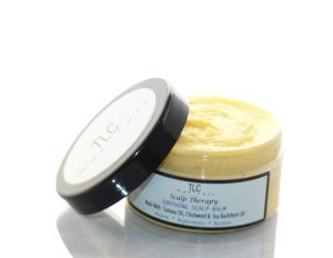 scalp therapy, balm, soothing, tlc naturals, dandruff, tichy, itching, scalp, hair, loss, growth, dermatitis, eczema,