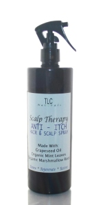 scalp therapy, spritz, itchy, itching, scalp, hair, dandruff, dermatitis, natural, hair, vegan,